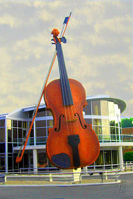 World's Largest Fiddle Art Print