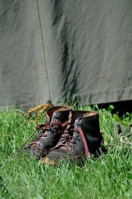 Worn Boots Art Print by Rachel Rodgers