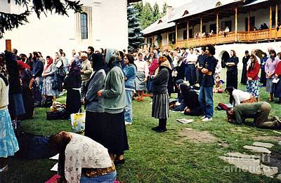 Photograph - Worshipers At Sihastria Monastery by Sarah Loft