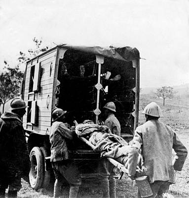 Somme Photograph - Wounded At The Battle Of Somme - Wwi -- France by International  Images