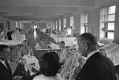 Wounded Vietnam Veterans. President Art Print by Everett