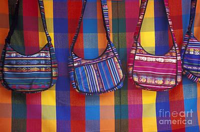 Photograph - Woven Bags Otavalo Market Ecuador by John  Mitchell