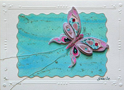 Gracie Mixed Media - Wowfly  by Gracies Creations