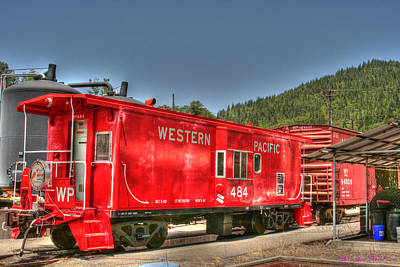 Wp 484 Working Caboose Original by Jeanean Gendron