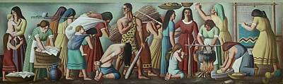 Realism Photograph - Wpa Mural. Contemporary Justice by Everett