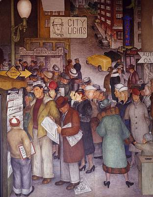 Social Realism Photograph - Wpa Mural. Detail Of The Mural by Everett
