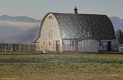 Art Print featuring the photograph Wrapped Barn by Mick Anderson