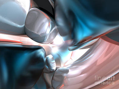 3d Computer Graphics Digital Art - Wrapped In Silk Abstract by Alexander Butler