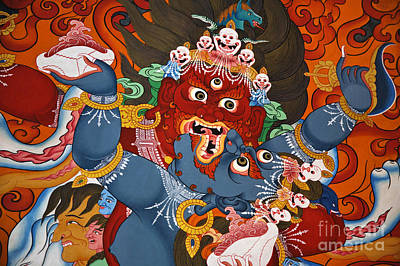 Photograph - Wrathful Diety In Yabyum - Nepal by Craig Lovell