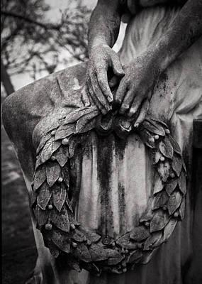 Graveyard Digital Art - Wreath Of Grief by Sonja Quintero