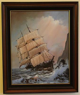 Cliff Lee Painting - Wreck Of The Glenesslin    by George E Lee