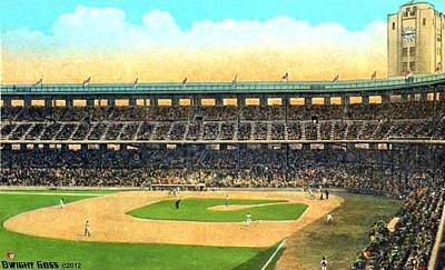 Wrigley Field In Los Angeles Ca In 1937 Art Print by Dwight Goss