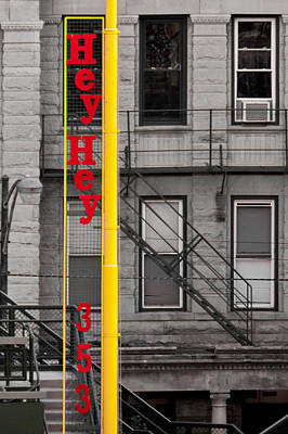 Photograph - Wrigley Field Right Field Foul Pole by Anthony Doudt