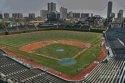 Friendly Confines Photograph - Wrigley In Spring by David Bearden