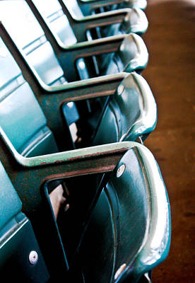 Friendly Confines Photograph - Wrigley Seats by Anthony Doudt