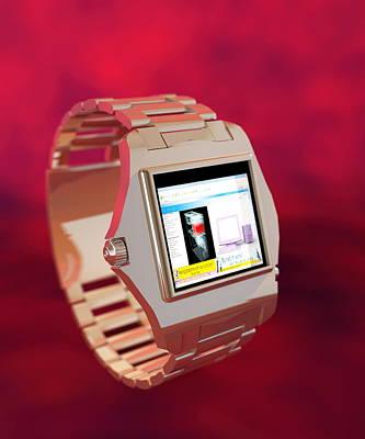 Wearable Photograph - Wrist Watch Computer, Computer Artwork by Christian Darkin