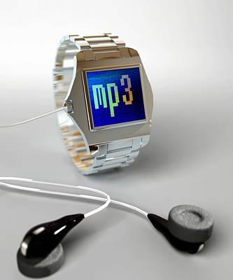 Wearable Photograph - Wrist Watch Mp3 Player by Christian Darkin