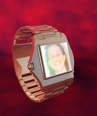 Wearable Photograph - Wrist Watch Video Phone, Computer Artwork by Christian Darkin