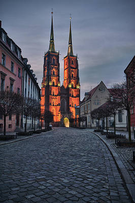 Old Photograph - Wroclaw Cathedral by Sebastian Musial