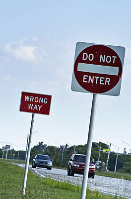 Wrong Way  Art Print by Blink Images
