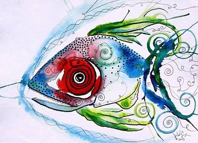 Wtfish 001 Print by J Vincent Scarpace