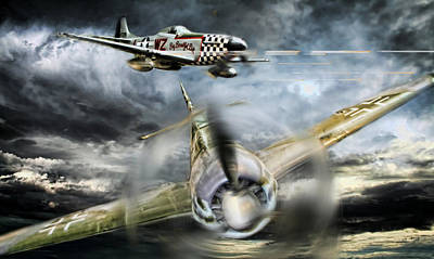 Dogfight Digital Art - Wulf Hunt by Peter Chilelli