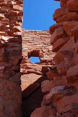 Photograph - Wupatki Walls And Windows by Cheryl Fecht