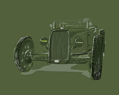 Digital Art - Ww2 Rod by Jeremy Lacy
