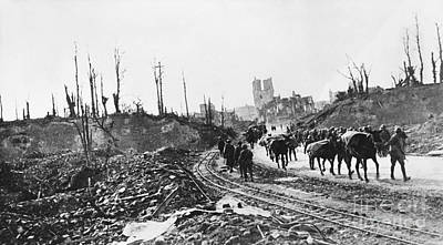 Ypres Photograph - Wwi Pows, Ypres, Belgium by Omikron