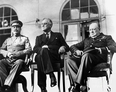 Wwii: Tehran Conference Art Print by Granger