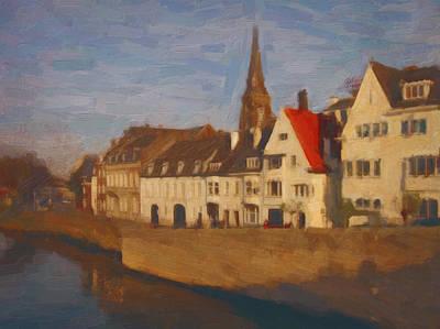 Limburg Painting - Wyck In Winter Sunlight by Nop Briex