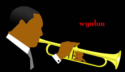 Digital Art - Wynton Marsalis by Victor Bailey