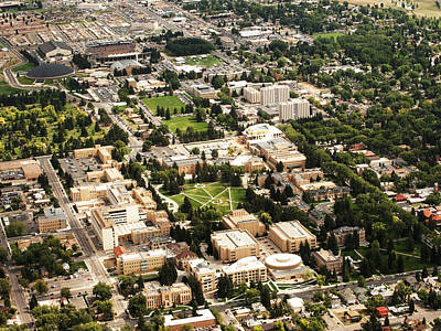 Photograph - Wyoming Campus Aerial by University of Wyoming