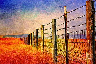 Wyoming Fences Art Print