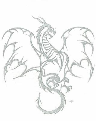 Metal Point Drawing - Wyrm by Jeff Gould
