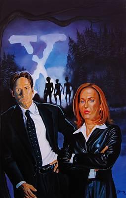 X Files Forest Encounter Art Print by Robert Steen