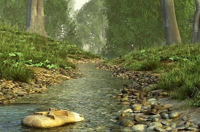 Landscapes Digital Art - X Marks The Spot by Daniel Eskridge