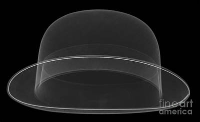 X-ray Of A Bowler Hat Art Print by Ted Kinsman
