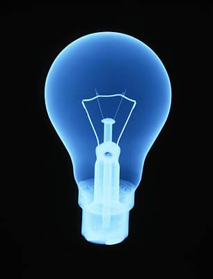 X-ray Of Light Bulb Art Print by D. Roberts