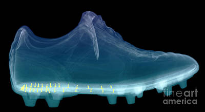 X-ray Of Shoe Art Print by Ted Kinsman