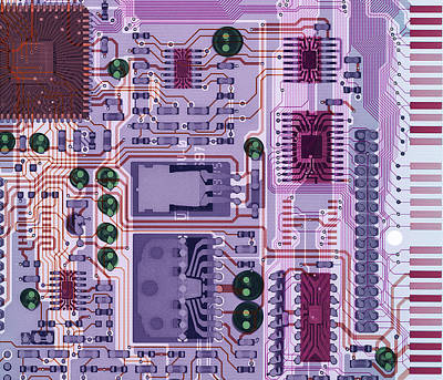 Integrated Photograph - X-ray Of Sound Card by D. Roberts