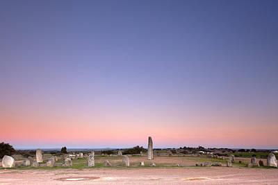 Xarez Cromlech Uring The Sunset Art Print by Andre Goncalves