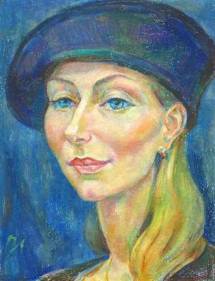 Woman Painting - Xenia Istomin by Leonid Petrushin