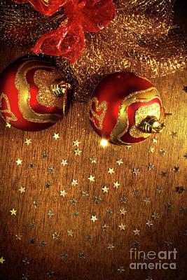 Xmas Balls Art Print by Carlos Caetano