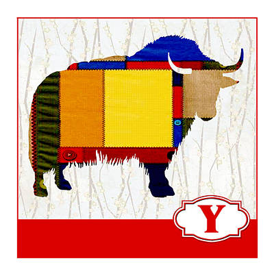 Yak Painting - Y Is For Yak by Elaine Plesser
