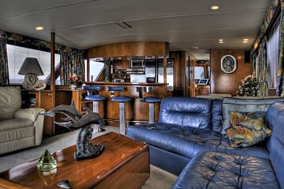 Cabin Cruiser Photograph - Yacht Cabin by Al Hurley