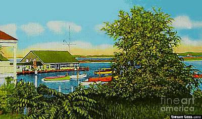 Painting - Yacht Club On Edgartown Harbor In Martha's Vineyand Ma by Dwight Goss