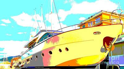Yacht Dry Docking Art Print by Rogerio Mariani