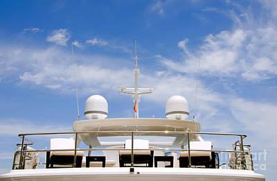 Yacht In Marbella Art Print by Perry Van Munster