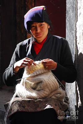 Yak Wool Sweater Weaver Art Print by Marko Moudrak